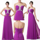 Sweetheart Sexy V-Neck Long Chiffon Wedding Ball gown Evening Prom Party Dress z
