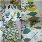 "Retro Teal Table Runner Blue Lime Green Coffee Table Runner 54"" x 15"" Hand Craft"