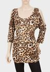 Womans Animal / Leopard Print Top Size 6,8,10,12,14,16