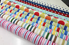 Prestigious Designer 100% Cotton Spots and Stripes Curtain Fabric Upholstery