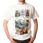 MEN'S PRINT T-SHIRT - OLD EDINBURGH DESIGN - WHITE - SIZE OPTIONS!