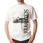 MEN'S PRINT T-SHIRT - SCOTLAND VIEW DESIGN - WHITE - SIZE OPTIONS!