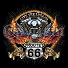 V TWIIN ENGINE ROUTE 66 BIKER RIDER SLEEVELESS T SHIRT WITH FRONT CHEST LOGO