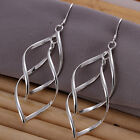 UK Stock Free P&P New Silver Plated Stamped Fashion Drop Earrings Jewellery E168