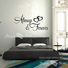 Always and Forever Hearths Vinyl Art Home Wall Quote Decal Sticker Decorative