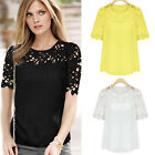 NEW Fashion Summer Women's Casual Lace Shirts Chiffon Blouses Tops T-Shirt