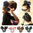 WOMEN'S BEAUTIFUL BIG RABBIT EAR BOW HEADBAND PONYTAIL HOLDER CHIC HAIR TIE BAND