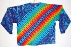 Adult L/S 5X 6X TIE DYE Rainbow DNA TShirt art 420 boho