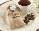 12 The Perfect Blend Burlap Wedding shower Favor Bags can be Personalized