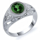 4.80 Ct Oval Envy Green Mystic Quartz 925 Sterling Silver Men's Ring