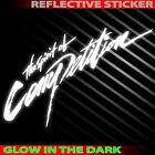 """*9.0""""x1P. MITSUBISHI THE SPIRIT OF COMPETITION GLOW SAFETY DECAL STICKER DIE CUT"""
