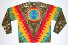 Adult L/S TIE DYE Rasta V Earth Blotter art Long Sleeve T Shirt plus size reggae