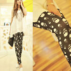 New Silm Women Sexy Skull Printed  Skinny Leggings Tights Pants UK FO
