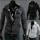 Fashion Mens Slim Fit Jacket Coat Long Sleeve Sweater Hoodies Jacket Coat Hooded