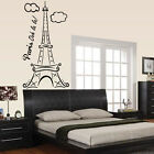 Paris Eiffel Tower Vinyl Wall Decal Or Car Sticker - eitooohlalapEY