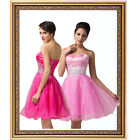 Organza Layered Short Prom Party Gown Homecoming Cocktail Evening Club Dress GK2
