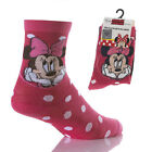 NEW Children's Kids' Girls' MINNIE MOUSE Pink Socks, 2 pairs. Size 6-8.5 /9-11.5