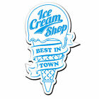 2 x 30cm Ice Cream Cone Shop Catering Sign Window Restaurant Stickers #4006