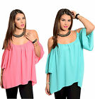 Sexy Cold Shoulder Flattering PINK/AQUA TOP Plus Size XL/1X/2X/3X  FREE SHIP