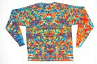 Adult Long Sleeve plus size TIE DYE Rainbow Blotter T Shirt 2X 3X 4X hippie boho