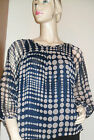 Navy Spot Blouse by Soaked In Luxury (Smart Casual, Polyester) Sizes S, M, L, XL