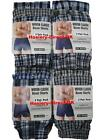 12 Mens Woven Classic Boxer Shorts Loose Fit Cotton Underwear / 3XL 4XL 5XL