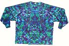 Adult L/S 5X 6X TIE DYE Purple Green Blotter Long Sleeve T Shirt grateful dead