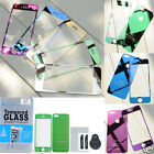 Mirror Front+Black Tempered Glass Screen Film Cover Protector For iPhone 5 5G 5S