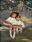 Reading in the Hammock Fabric Block - Repro Jessie Wilcox Smith