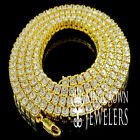 """1 Row Simulated Diamond Iced Out Men Lady Bling Tennis Chain HipHop Necklace 30"""""""