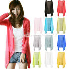 2014 Hot Long Sleeve Sun Protection Sunscreen Anti-UV Cardigan Cotton Top Blouse