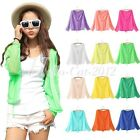 Womens Long Sleeve Hooded Sun Protection Sunscreen Anti-UV Blouses Tops Cardigan