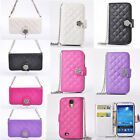 Deluxe Leather Flip Wallet Package Case Cover For Samsung Galaxy S4 i9500 S4HYL