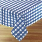 Country Style New Table Cloth - Blue Gingham- Tablecloth Assort. size New cotton