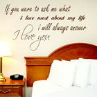 IF YOU WERE TO ASK decal wall art sticker quote transfer graphic DAQ9