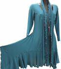 C14 Quirky Designer Scarf Neck Long Tunic/Top, Made to Order. Sizes; 12 - 36