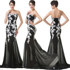 Applique Lace&Chiffon Bridesmaid Evening Bodycon Party Gowns Prom Formal Dresses