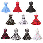 UK STOCK Vintage Dress 50s 60s Party Housewife Rockabilly Swing Pinup Tea Dress