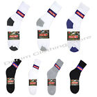 1 DOZEN 4-12 PAIRS MEN SOLID SPORTS COTTON CREW SOCKS 3 COLORS SIZE 9-11 & 10-13