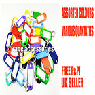 ASSORTED PLASTIC COLOURED KEY RING TAGS + NAME/ID CARD LANGUAGE FOB LABEL NEW