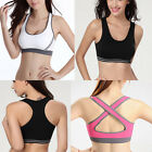 Women Yoga Sports Bra Stretch Seamless Racerback Fitness Padded Workout Tank Top