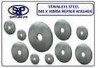 M8 X 30MM A2 STAINLESS STEEL REPAIR PENNY MUDGUARD WASHER FOR 8MM BOLT M8 BOLT