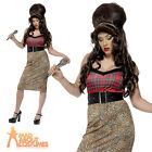 Rehab Babe Costume Amy Winehouse Ladies Fancy Dress Outfit UK 8-18 New