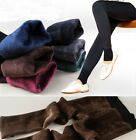 Women's New Solid Thermal Leggings Stretchy Winter Super Thick Foot Warm Pants