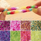 About 190pcs 8 Sections Loom Rubber Bands Refill & 15x S Clips & 1x Loom Tool