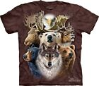 Northern Wild Life Collage Kids T-Shirt The Mountain. Boy Girl Child Sizes NEW