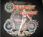 LIVE THE LEGEND MADE IN THE USA BIKER ACCENT THROW PILLOW MAN CAVE GAME ROOM
