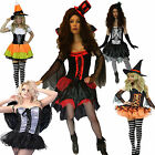 Ladies Fancy Dress Halloween Costume Outfit Size 6-18 Witch Vampire Skeleton