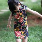 Girl/Kids/Toddler Flower Cheongsam Dress Short Cap Sleeve Rustic Chinese Red New