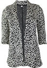 NEXT NEW WOMENS BLACK WHITE MONOCHROME ANIMAL PRINT BLAZER JACKET TOP sizes 6-22